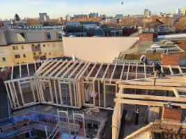 Neubau Deckenbalkenlage und Dachstuhl / BZG
