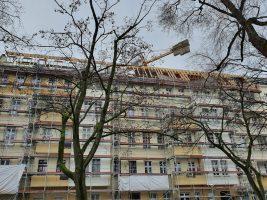 Neubau Deckenbalkenlage und Dachstuhl / BZG / Berlin